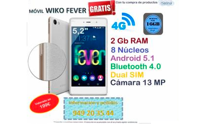 "MOVIL WIKO FEVER 5,2"" 16GB"